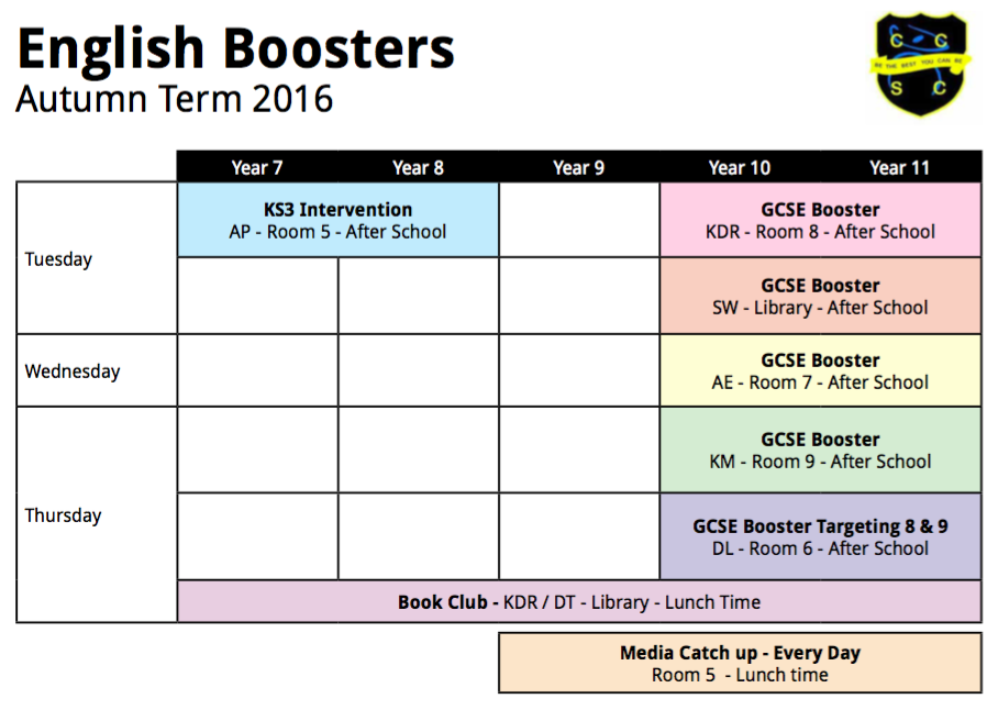 English Boosters 16 - 17