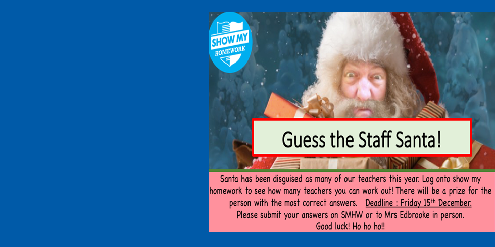Guess the Staff Santa!