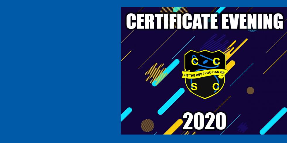 Certificate Evening 2020