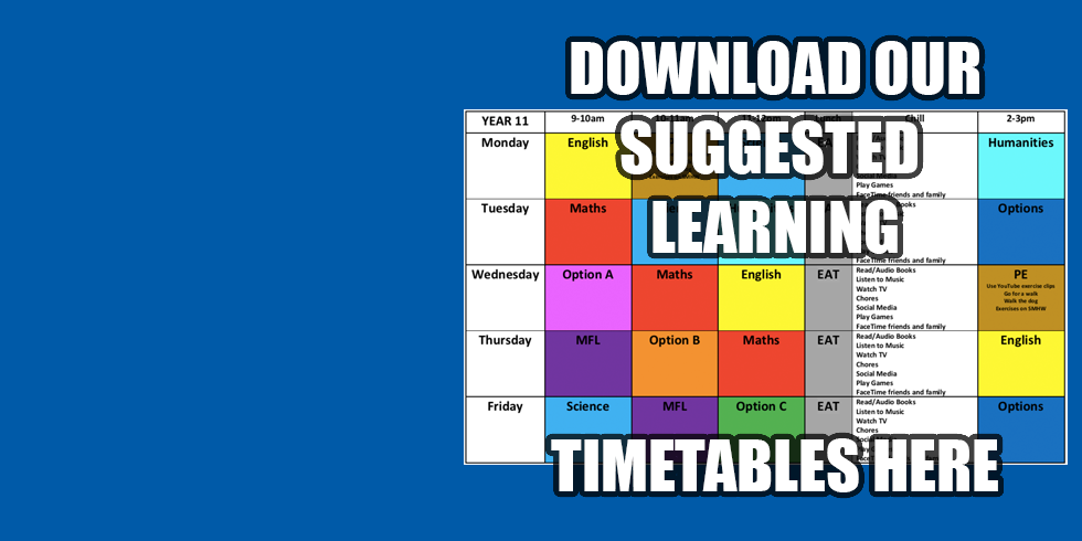 Suggested Learning Timetables
